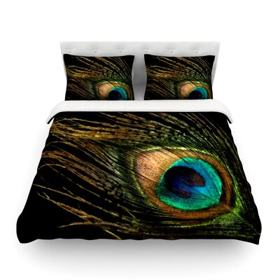 Peacock by Alison Coxon Featherweight Duvet Cover Size: Queen, Fabric: Lightweight Polyester
