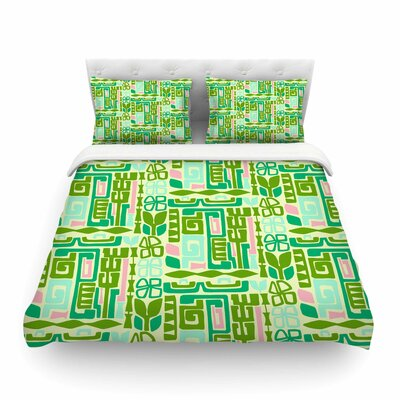 Maze by Amy Reber Featherweight Duvet Cover Size: Queen