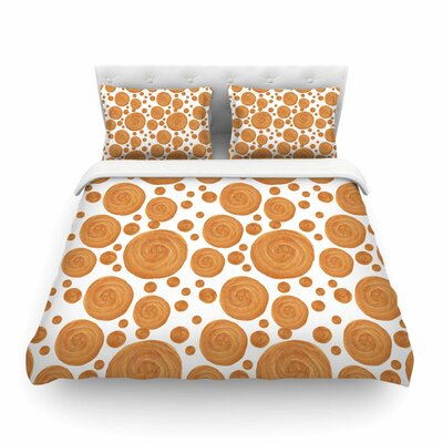 Gold Pattern Geometric by Alisa Drukman Featherweight Duvet Cover Size: Queen