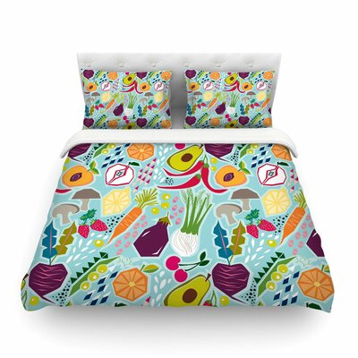 Garden Song Food by Agnes Schugard Featherweight Duvet Cover Size: Twin