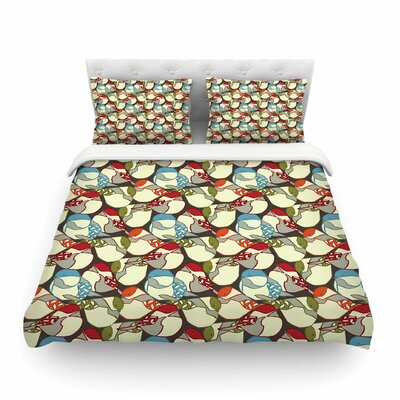 Chickadees by Amy Reber Featherweight Duvet Cover Size: Queen