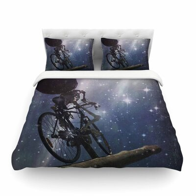 No Rest for the Wicked Galactic by Alyzen Moonshadow Featherweight Duvet Cover Size: Twin