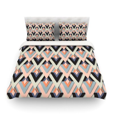Sweet & Sharp by Akwaflorell Featherweight Duvet Cover Size: Twin