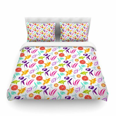 Iris Pattern by Anchobee Featherweight Duvet Cover Size: King