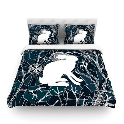 Hare by Anchobee Featherweight Duvet Cover Size: Queen