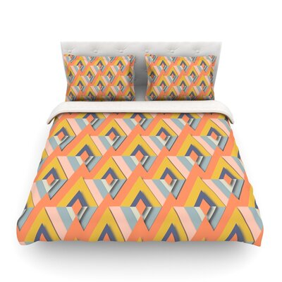 So Cool by Akwaflorel Featherweight Duvet Cover	 Size: Twin