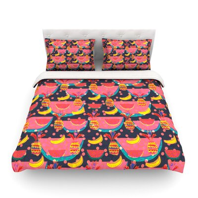 Yummy by Akwaflorell Featherweight Duvet Cover Size: Twin