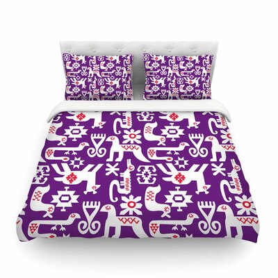 The Tribe by Agnes Schugard Featherweight Duvet Cover Size: King