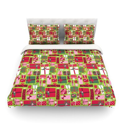 Prezzies Holiday by Allison Beilke Featherweight Duvet Cover Size: Queen