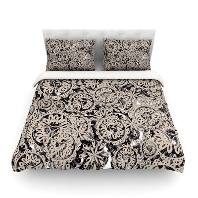 Snowflakes Geometricby Akwaflorell Featherweight Duvet Cover Size: King