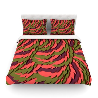 Wings Featherweigh by Akwaflorellt Duvet Cover Color: Red/Brown, Size: King
