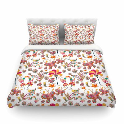 Fairy Forest by Alisa Drukman Featherweight Duvet Cover Size: King