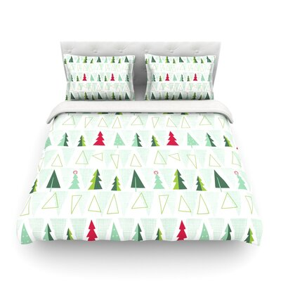 Pining for Christmas Christmas Holiday by Allison Beilke Featherweight Duvet Cover Size: Twin