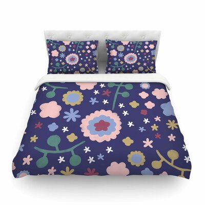 Night Floral by Alik Arzoumanian Featherweight Duvet Cover Size: Queen