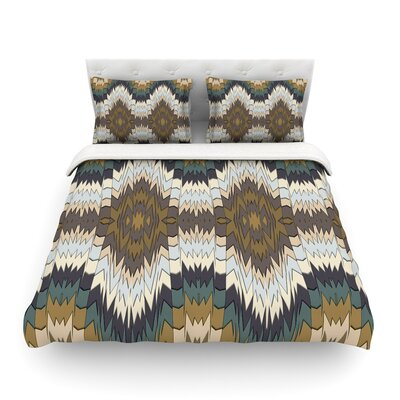 Papercuts Geometric by Akwaflorell Featherweight Duvet Cover Size: Queen