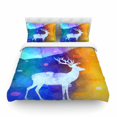 Rain Deer by Alyzen Moonshadow Featherweight Duvet Cover Size: Twin