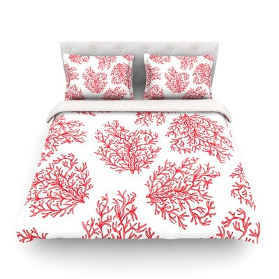 Coral by Anchobee Featherweight Duvet Cover Size: Queen