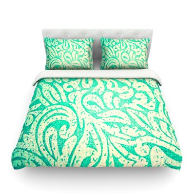 Spring Paisley by Alveron Featherweight Duvet Cover Size: King