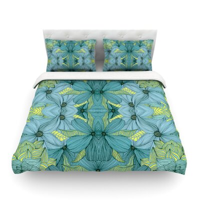 Blues in Blue by Akwaflorell Featherweight Duvet Cover Size: Queen