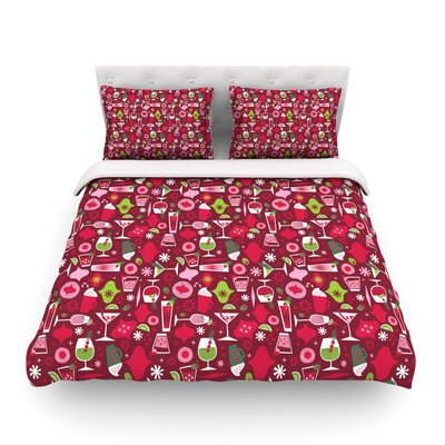 Holiday Spirits Holiday by Allison Beilke Featherweight Duvet Cover Size: Queen