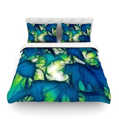 Leaves by Alison Coxon Featherweight Duvet Cover Size: Queen, Fabric: Lightweight Polyester