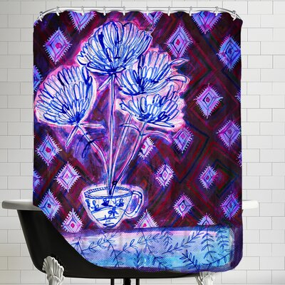 Flower Cup Shower Curtain