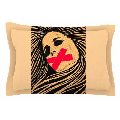 Tight-Lipped by BarmalisiRTB Pillow Sham Size: Queen