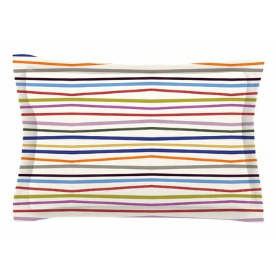 Stripe Fun by Yenty Jap Pillow Sham Size: Queen