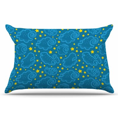 Starry and Cloudy Night by Yenty Jap Pillow Sham Size: King