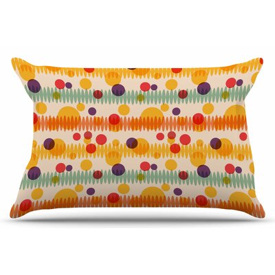 Bubble Stripes Fun by Yenty Jap Pillow Sham Size: King