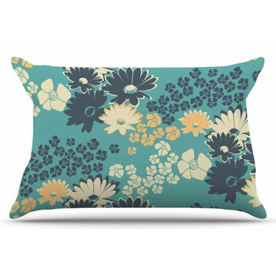 Teal Color Bouquet by Zara Martina Mansen Pillow Sham Size: King