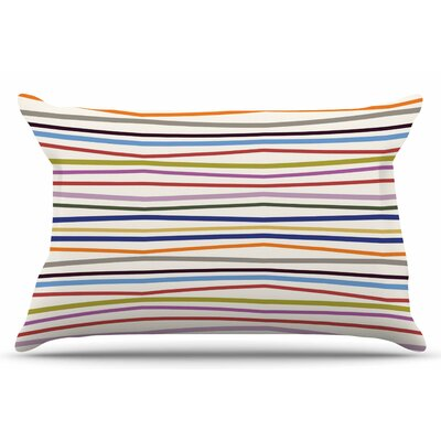 Stripe Fun by Yenty Jap Pillow Sham Size: King