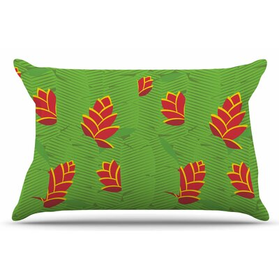 Heliconia by Yenty Jap Pillow Sham Size: King