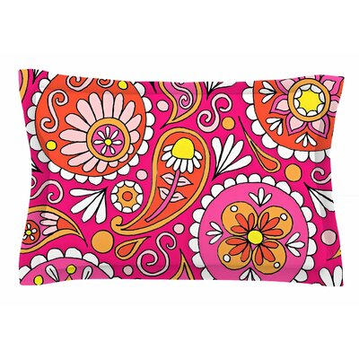 Paisley Pop by Sarah Oelerich Pillow Sham Size: Queen