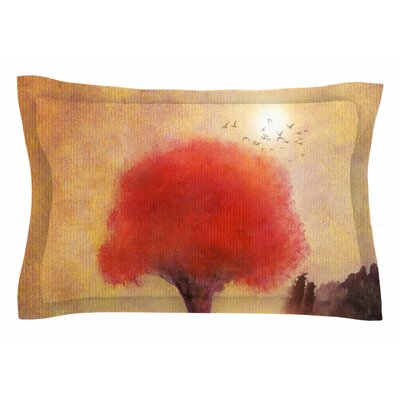 Tree Pillow Sham Size: Queen