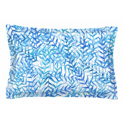 Leaves by Strawberringo Pillow Sham Size: Queen
