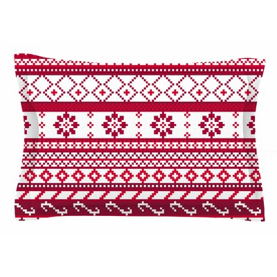 Fairisle Christmas by Noonday Design Pillow Sham Size: Queen