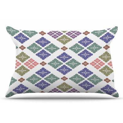 Happy Lozenge by Setsu Egawa Pillow Sham Size: King