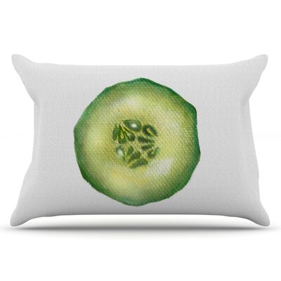 Cucumber by Theresa Giolzetti Pillow Sham Size: King