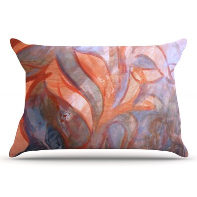 Seaweed by Theresa Giolzetti Pillow Sham Color: Orange/Blue, Size: Queen