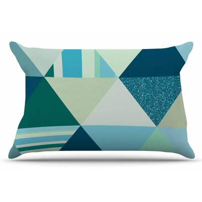 The Triangles by Noonday Design Pillow Sham Size: King