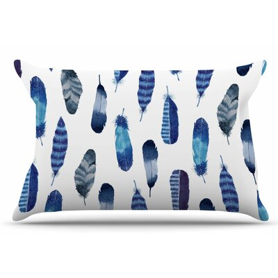 Feathers by Strawberringo Pillow Sham Size: King