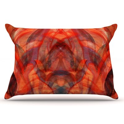 Seaweed by Theresa Giolzetti Pillow Sham Size: Queen, Color: Orange