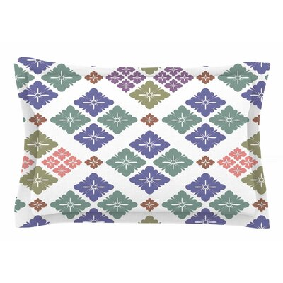 Happy Lozenge by Setsu Egawa Pillow Sham Size: Queen