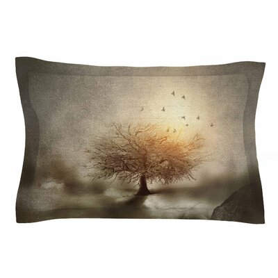 Lone Tree Love IV by Viviana Gonzalez Pillow Sham Size: Queen