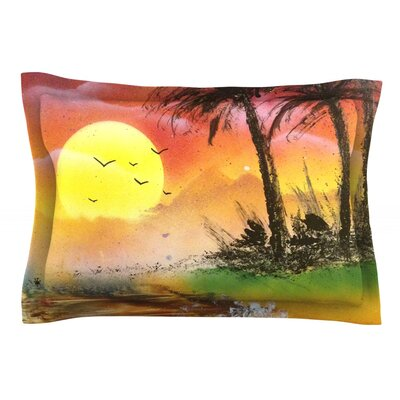 Maui Sunrise by Infinite Spray Art Pillow Sham Size: Queen