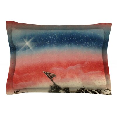 Veterans Day by Infinite Spray Art Pillow Sham Size: Queen