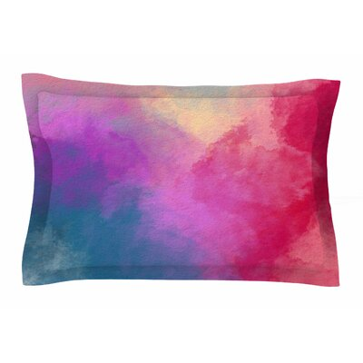 Abstract 01 by Viviana Gonzalez Pillow Sham Size: Queen