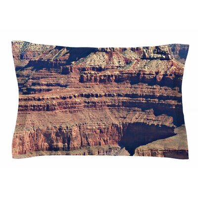 Grand Canyon Landscape 1 by Sylvia Coomes Pillow Sham Size: Queen