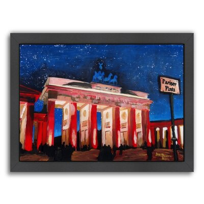 "Berlin 2 Stars Framed Painting Size: 11"" H x 9"" W x 1"" D UNFP8770 33528686"